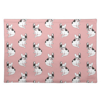 Fun playtime for the Single hooded pied Frenchie Placemat