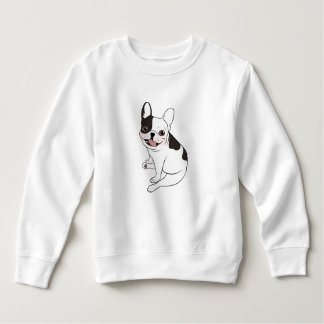 Fun playtime for the Single hooded pied Frenchie Sweatshirt