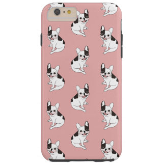 Fun playtime for the Single hooded pied Frenchie Tough iPhone 6 Plus Case