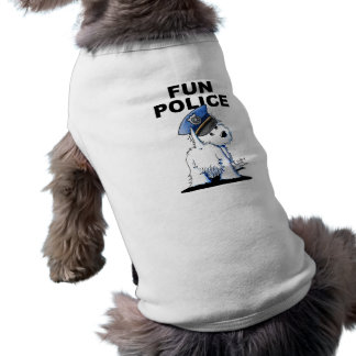 FUN POLICE Ribbed Dog Tank Top Doggie Tee Shirt
