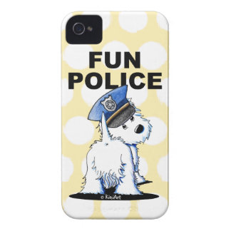 FUN POLICE Westie iPhone 4 Case