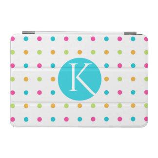 Fun Polka Dots Monogrammed iPad Mini Smart Cover