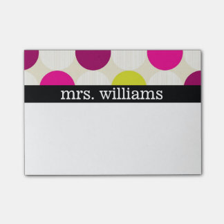 Fun Polka Dots - Personalize Post-it Notes