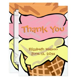 Fun Pop Art Ice Cream Custom Thank You Card