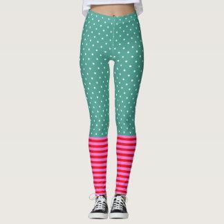 Fun Pop Culture Polka Dots Stripes Patterns Leggings