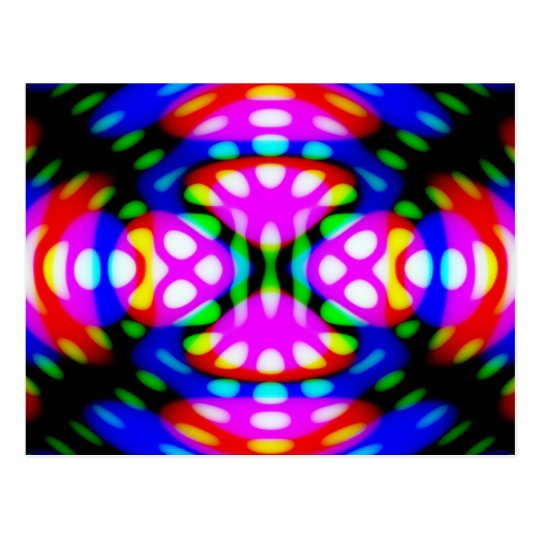 Fun Postcard, Psychedelic Neon Lights Swirling Postcard