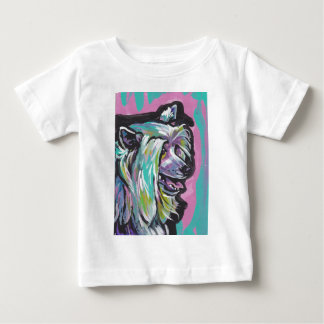 Fun Powder Puff Chinese Crested Dog Pop Art Baby T-Shirt