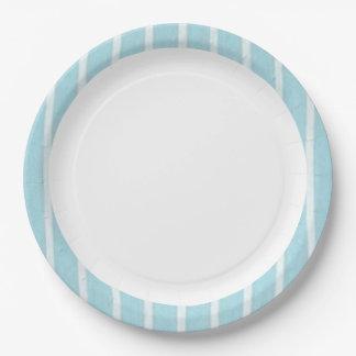 """Fun Prints""  Baby Blue(c)Multi-Sz 9 Inch Paper Plate"
