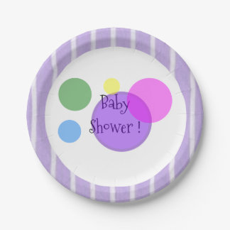 """""""Fun Prints"""" BABY SHOWER* 7 Inch Paper Plate"""