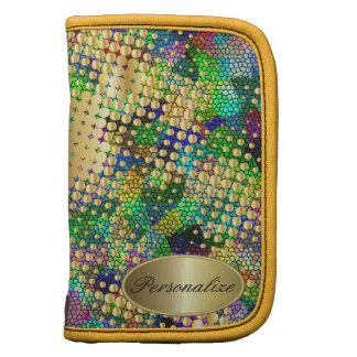 Fun Psychedelic with a Splatter of Gold Dots Organizers
