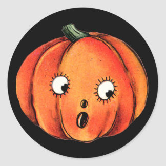 Fun Pumpkin Face for Halloween Fun Stickers