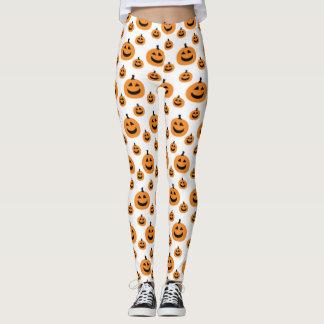 Fun Pumpkin Pattern Leggings