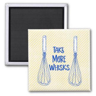 Fun Pun: Take More Whisks Square Magnet