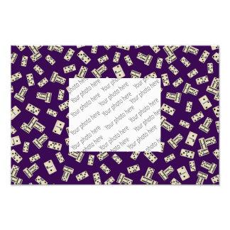 Fun purple domino pattern photo art