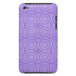 Fun Purple Geometric Floral Barely There iPod Cases