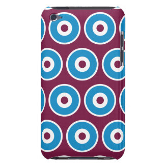 Fun Purple Teal Blue Concentric Circles Pattern Barely There iPod Case