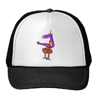 Fun Purple Unicorn on Pommel Horse Gymnastics Art Trucker Hat