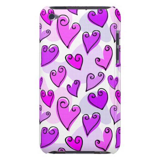 Fun Purple Valentine's hearts iPod Touch Case-Mate