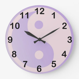 Fun Purple Yin Yang Large Clock