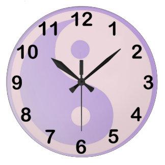 Fun Purple Yin Yang Wallclock