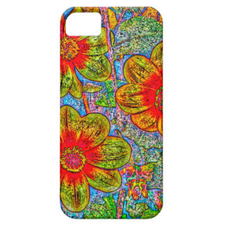 Fun quirky flower designed I phone 5s Barely there iPhone 5 Case