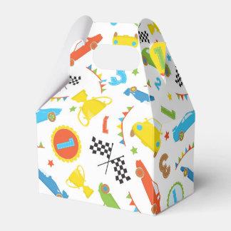 Fun race car pattern boys party favor box