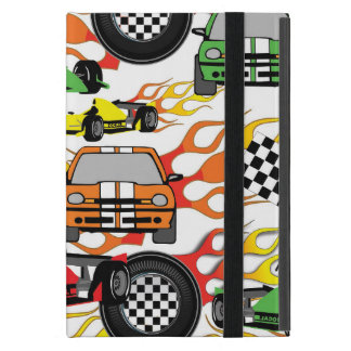 Fun race car pattern kids iPad Mini case