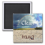 Fun Rainbow and Sand Dishwasher Magnet
