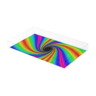 Fun Rainbow Swirl Serving Tray