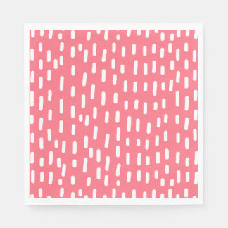 Fun Raspberry Pink Abstract Pattern Disposable Napkins
