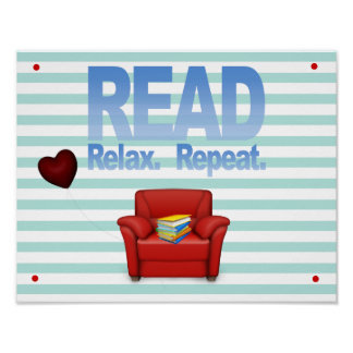 Fun Read, Relax, and Repeat Literacy Print
