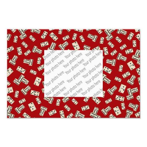 Fun red domino pattern photo art