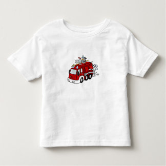Fun Red Fire Truck Engine & Fireman Toddler T-shirt