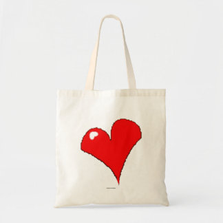 Fun Red Heart Cute Girly Trendy / House of Grosch Tote Bag