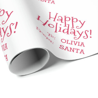 Fun Red Holiday Font To From Christmas