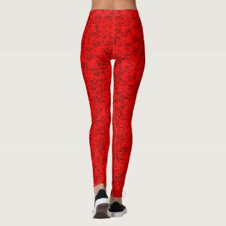 Fun red leggings