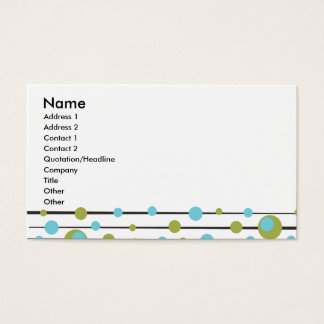 Fun Retro Dots and Lines Business Card