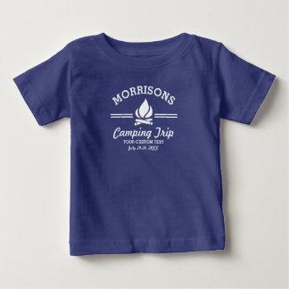 Fun Retro Family Reunion Camping Trip Campfire Baby T-Shirt
