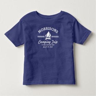 Fun Retro Family Reunion Camping Trip Campfire Toddler T-shirt