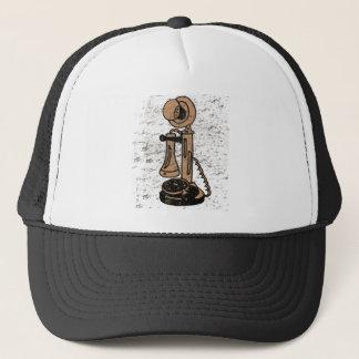 Fun Retro Grunge Style Upright Telephone Trucker Hat