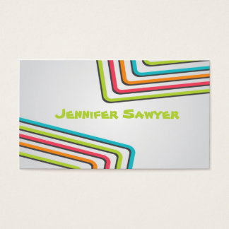 Fun Retro Lines - Style 1 Business Card