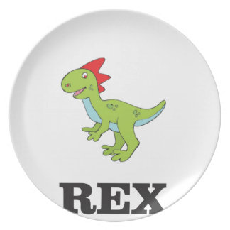 fun rex dino plate