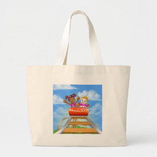 Fun Roller Coaster Kids Large Tote Bag