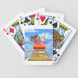 Fun Roller Coaster Kids Poker Deck