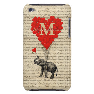 Fun romantic elephant love heart personalized iPod touch Case-Mate case