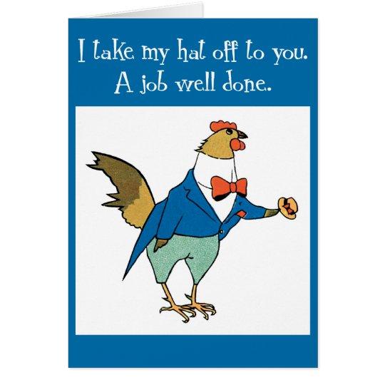 Fun Rooster Congratulations Card