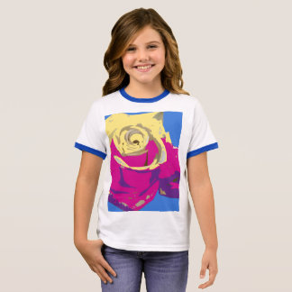 Fun Rose Art Girls' T-Shirt