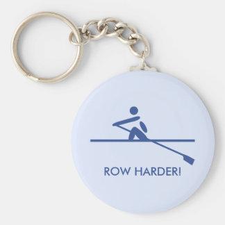 Fun row harder sports keychain