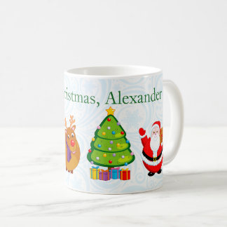 Fun Santa Claus and other Christmas characters, Coffee Mug