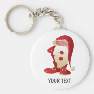 fun santa claus christmas keychain